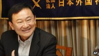 Thaksin Shinawatra, in Japan on 23 August 2011