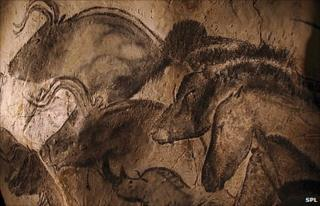 Paintings at Chavet cave, France SPL