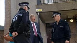 Kenny MacAskill and Grampian Police officers