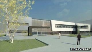 Artist interpretation of a new college block at the College of West Anglia's King's Lynn campus (Pick Everard)