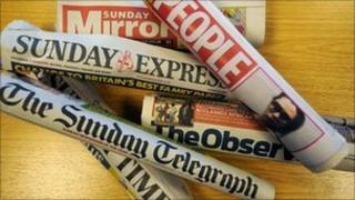 Sunday newspapers
