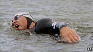 David Walliams swimming