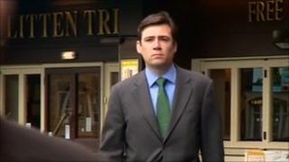 Andy Burnham arrives to give evidence at the Stafford Hospital public inquiry