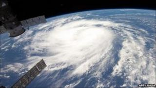Hurricane Katia satellite view