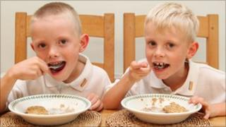 "Weetabix ""brand ambassadors"" Thomas and Jack Milmine (image courtesy Weetabix)"