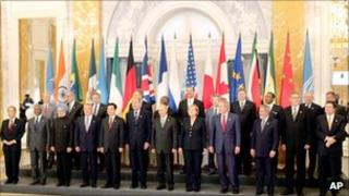 G8 leaders in St Petersburg in 2006