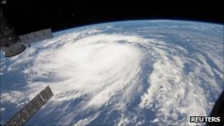 Hurricane Katia from International Space Station