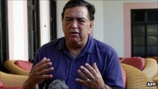 Bill Richardson at a news conference at the Hotel Nacional in Havana, Cuba - 9 September 2011