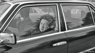"""""""Woman trapped in traffic jam at Hyde Park"""""""
