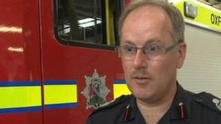 Oxfordshire's Deputy Chief Fire Officer Colin Thomas