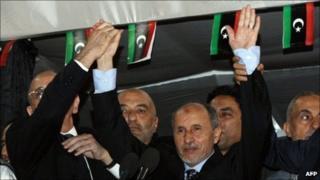 Mustafa Abdul Jalil in Tripoli on 12 September 2011