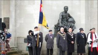 Armistice Day Service at the Hall of Memory in Birmingham in 2010