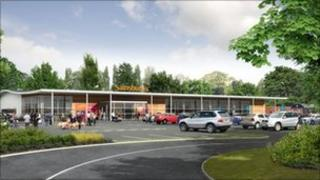 Artist's impression of the London Road store