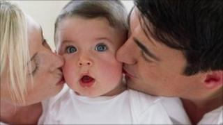 Baby being kissed (generic)