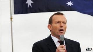 Opposition leader Tony Abbott (file image from 22 August 2011)