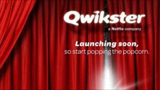 Screengrab of Qwikster homepage, BBC