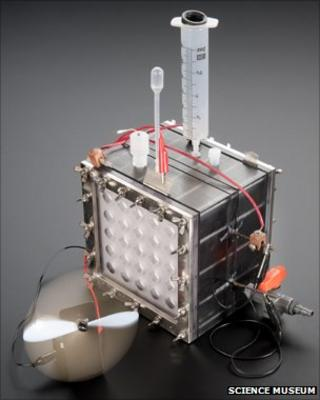 Microbial fuel cell (Image: Science Museum)