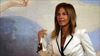Emma Marcegaglia, the head of Italy's leading industrial association, Confindustria