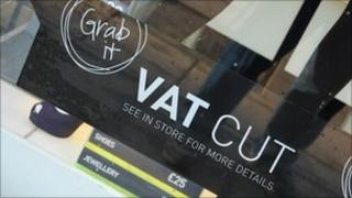 Sign in shop about VAT