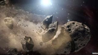 Asteroids smashed apart