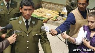 General Rene Sanabria, speaking in November 2008