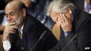 Chairman of the Federal Reserve Ben Bernanke and head of the ECB Jean Claude Trichet