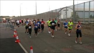 Runners in the new Oxford Half Marathon