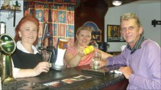 Ben Madigan care home staff members at the new bar