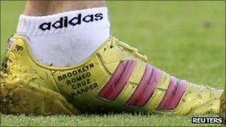 David Beckham's football boot