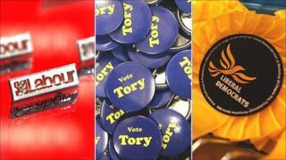 Party badges and rosettes
