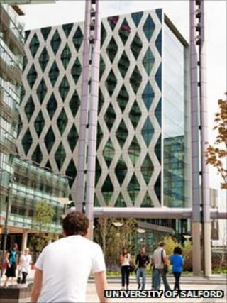 University of Salford building at MediaCityUK