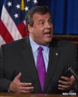 New Jersey Governor Chris Christie in Trenton, New Jersey, on 4 October 2011
