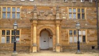 Delapre Abbey's main entrance