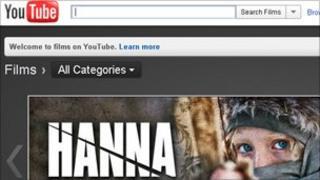 Screengrab of movie rental page
