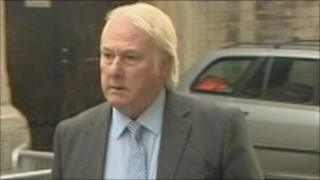 Peter Rowell arriving at Bristol Crown Court