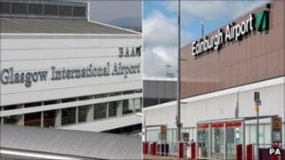 Glasgow and Edinburgh Airports