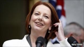 Australian Prime Minister Julia Gillard - 18 July 2011