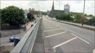 Belgrave flyover in Leicester