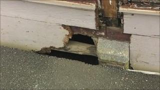 Damage at Ashcombe Primary School in Weston-super-Mare