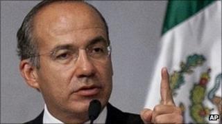 Mexican President Felipe Calderon, file picture