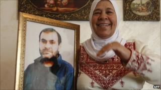 The mother of Palestinian prisoner Adnan Maragha from East Jerusalem