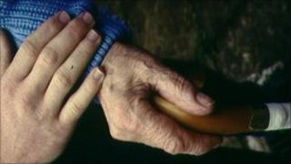 Older person and carer