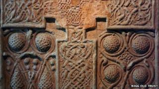 Detail on the Nigg cross-slab. Pic: Nigg Old Trust