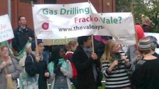 Campaigners from the Vale Says No group