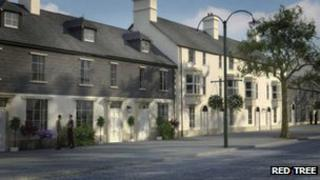 Artist's impression of housing in Sherford