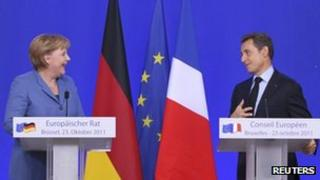 Chancellor Merkel and President Sarkozy
