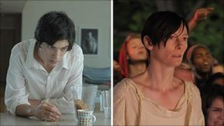 Ezra Miller, left, and Tilda Swinton in We Need To Talk About Kevin
