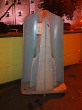 One of the urinals outside La Prensa at the bottom of Wind Street
