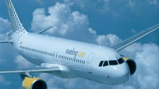 Vueling Airbus in flight