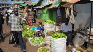 Gabba market in Kampala, Uganda